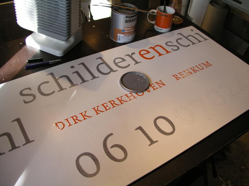 Letterbord schilderènschilder.nl