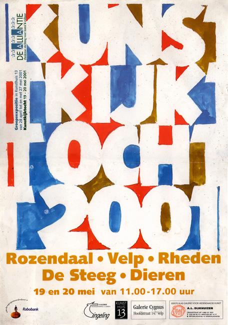 A3 raambiljet Kunstkijktocht Rheden