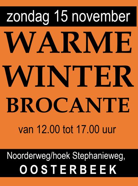 A6 kaart voor overdekte wintermarkt