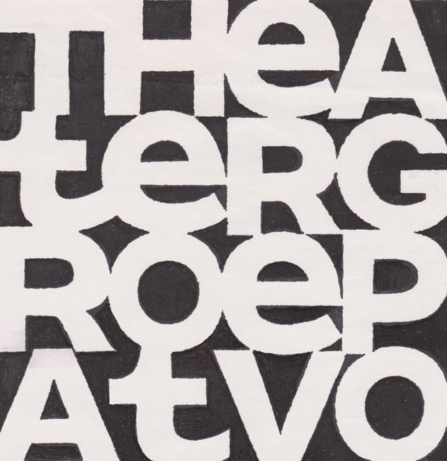 Handgetekend logo voor amateurtoneel