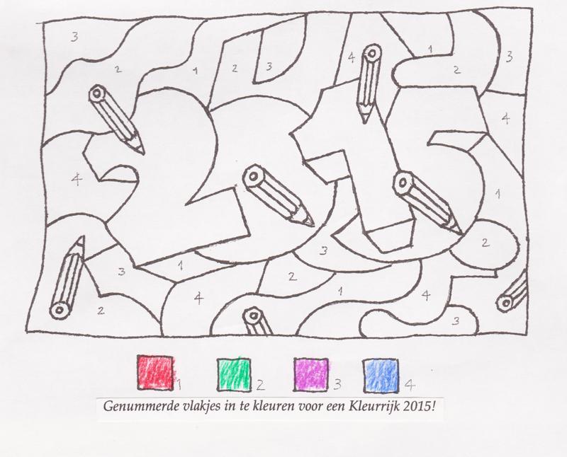 Zelf in te kleuren Nieuwjaarswens, 2015