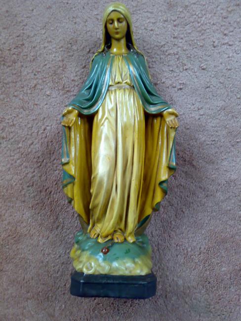 Gerestaureerd Mariabeeld