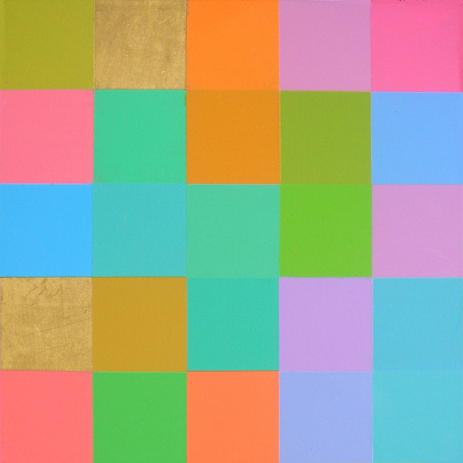Kleurwerk QUCKB, acryl op MDF, 30x30cm