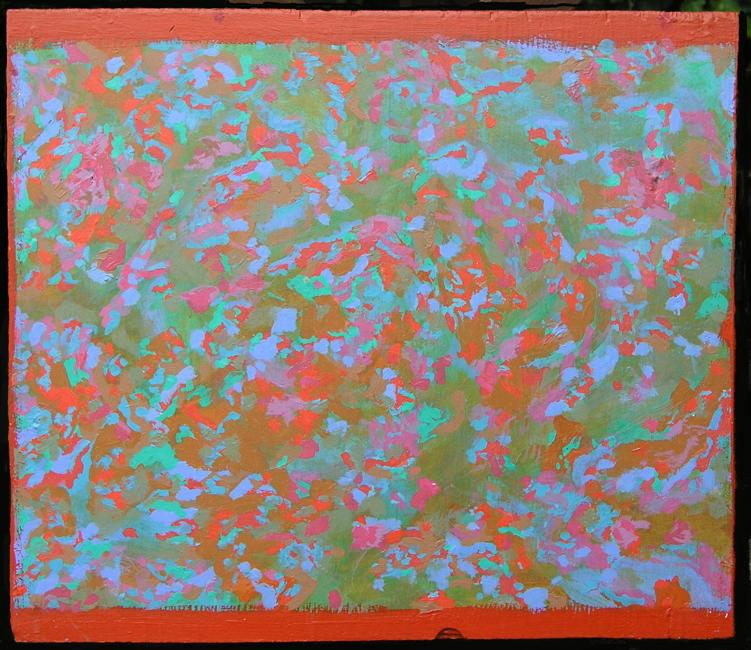 Kleurwerk II, acryl op multiplex