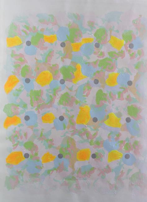 Kleurwerk VI, gemengde techniek op papier, part.coll.
