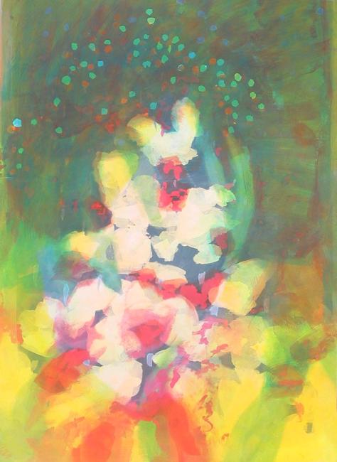 Kleurwerk X, acryl op papier