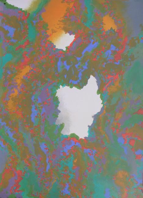 Kleurwerk XI, acryl op papier