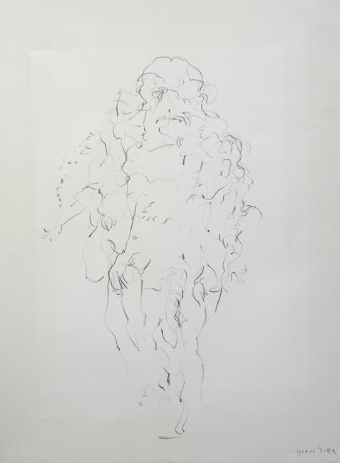 Dansend naakt 3, grafietstift