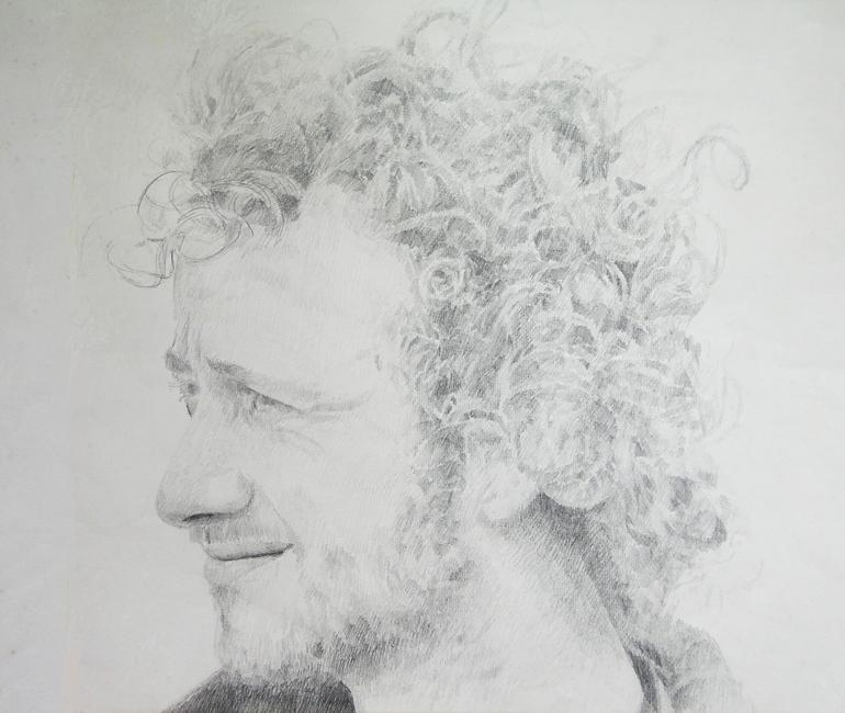 Zelfportret, potlood