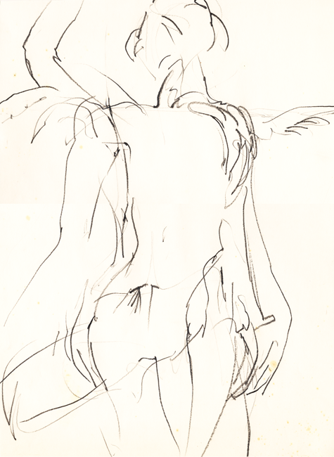 Dansend naakt 4, grafietstift