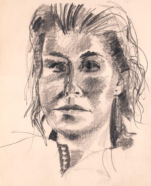 Portret Sandra, grafietstift