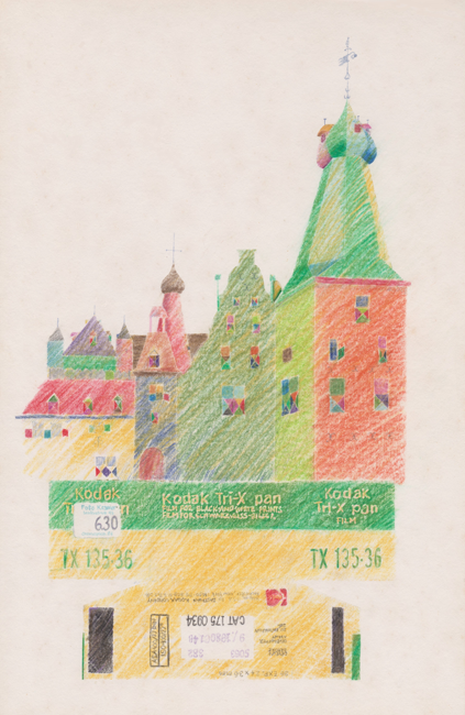Kasteel Doorwerth, kleurpotlood