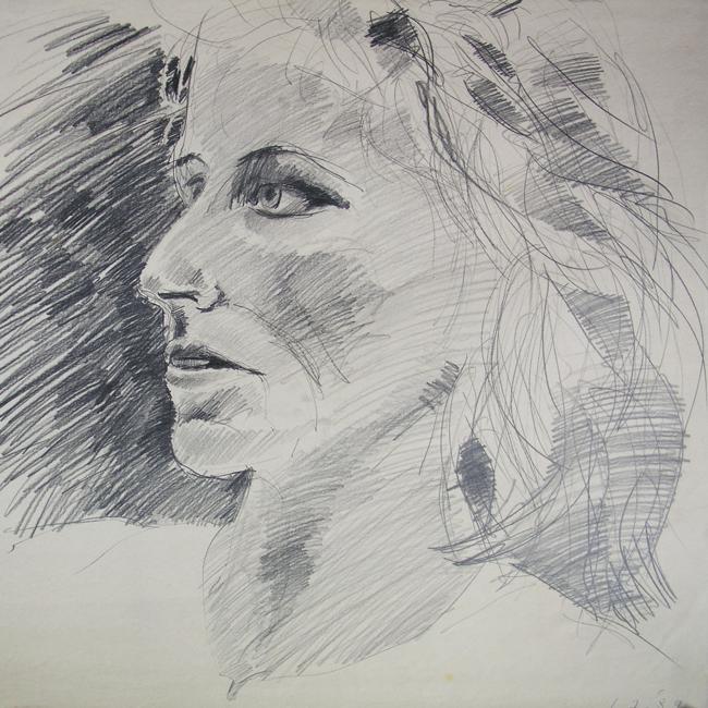 Portret, grafietstift