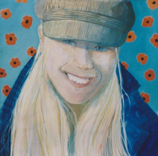 Portret Suzanne, acryl op papier, part.coll.