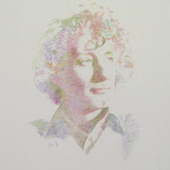 Zelfportret in 26 kleuren kleurpotlood